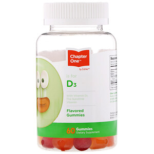 Chapter One, Vitamin D3, Flavored Gummies, 60 Gummies