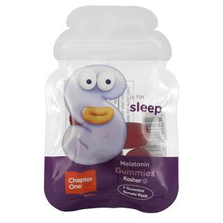 Chapter One, S Is For Sleep with Melatonin, Flavored Gummies, Sample Pack, 6 Gummies