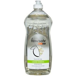 Citra-Solv, CitraDish, Натуральное Мыло для Мытья Посуды, Лимонная Вербена 25 жидких унции (739 мл)