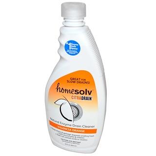 Citra-Solv, Homesolv, CitraDrain, Natural Enzyme Drain Cleaner, Valencia Orange, 22 fl oz (650 ml)