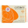 Cottons, 100% Natural Cotton Coversheet, Maternity Pads with Wings, Binden für Frauen nach der Geburt mit Flügeln, saugstark, 10Stück