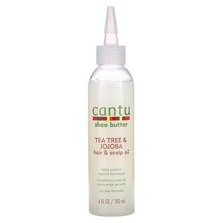Cantu, Shea Butter, Tea Tree & Jojoba Hair & Scalp Oil, 6 fl oz (180 ml)