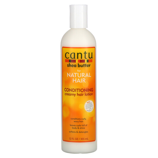 Shea Butter for Natural Hair, Conditioning Creamy Hair Lotion, 12 fl oz (355 ml)