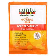 Cantu, 天然秀發用乳木果油,深層護理發膜,1.75 盎司(50 克)