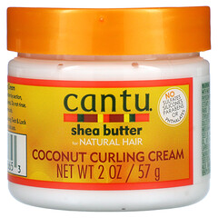 Cantu, 天然秀發用乳木果油,椰子卷發霜,2 盎司(57 克)