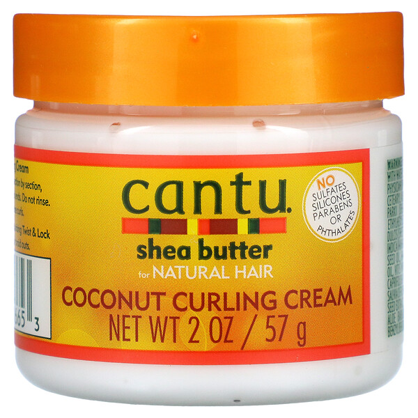 Shea Butter for Natural Hair, Coconut Curling Cream, 2 oz (57 g)
