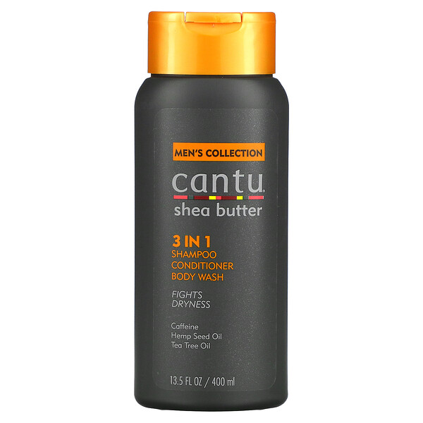 Men's Collection, Shea Butter 3 In 1 Shampoo, Conditioner, Body Wash, 13.5 fl oz (400 ml)