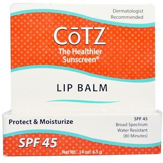 Cotz, Lip Balm, SPF 45, 0.14 oz (4.5 g)