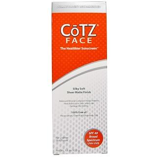 Cotz, Face, Silky Soft Sheer Matte Finish Sunscreen, SPF 40, 1.5 oz (42.5 g)