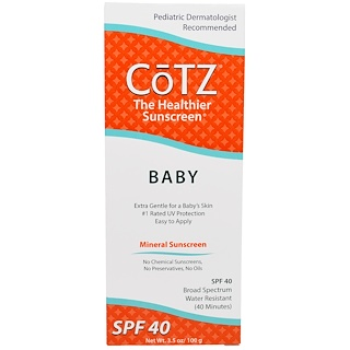 Cotz, Baby, Mineral Sunscreen, SPF 40, 3.5 oz (100 g)