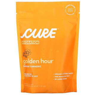 Cure Hydration, مزيج الترطيب، التركيبة الذهبية من الزنجبيل والكركم، 14 كيسًا، 0.29 أونصة (8.3 جم) لكل كيس