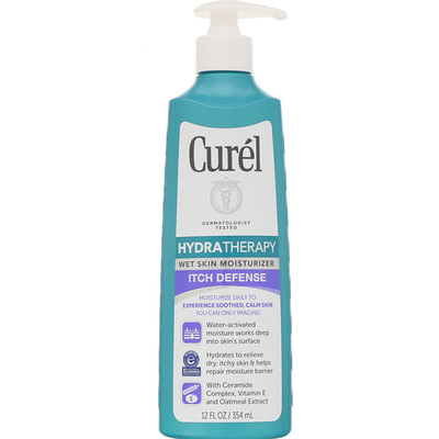 Купить Curel Увлажняющее средство Hydra Therapy для нанесения на влажную кожу, защита от раздражений, 354мл