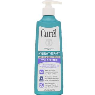 Curel, Hydra Therapy, 웻 스킨 모이스처라이저, Itch Defense, 12fl oz(354ml)