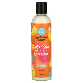 Curls, Poppin Pineapple Collection, So So Clean, Vitamin C, Curl Wash, 8 oz (236 ml)