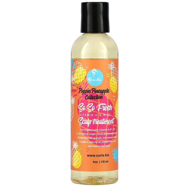 Poppin Pineapple Collection, So So Fresh, Scalp Treatment, Vitamin C & Mint, 4 oz (118 ml)