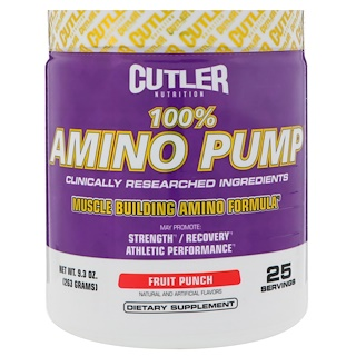 Cutler Nutrition, Amino Pump, Fruit Punch, 9.3 oz (263 g)