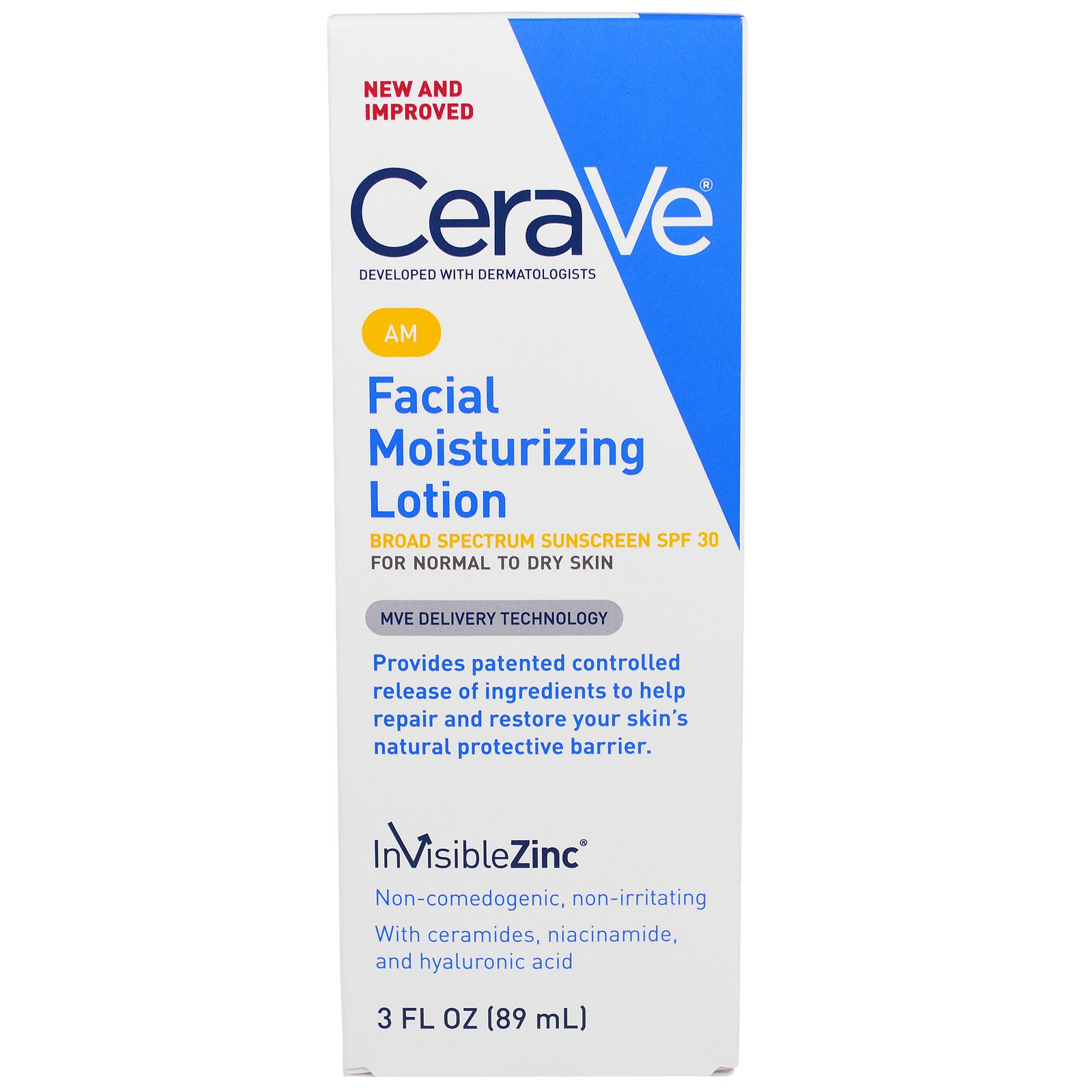 CeraVe, Утренний Увлажняющий лосьон для лица, SPF 30, 3 жидких унции (89 мл)