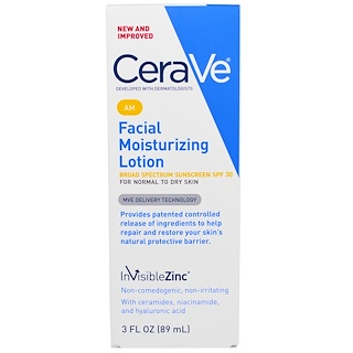 CeraVe, AM Facial Moisturizing Lotion, SPF 30, 3 fl oz (89 ml)
