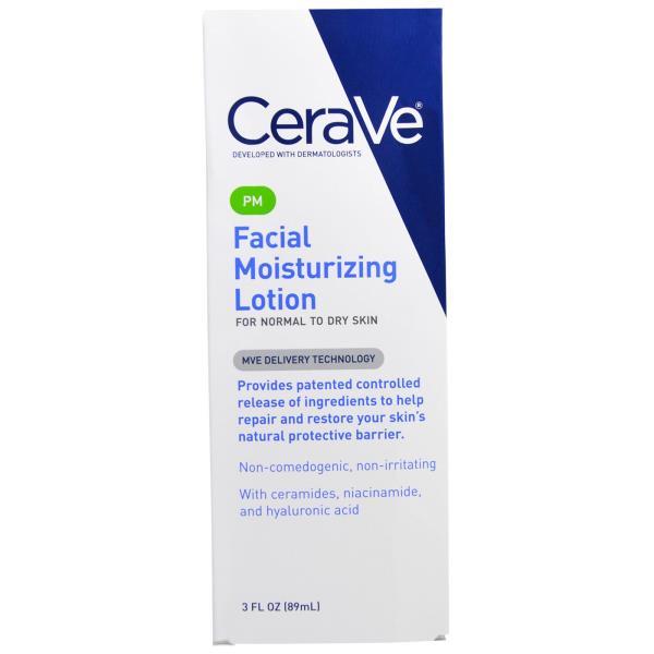 CeraVe, PM Facial Moisturizing Lotion, 3 fl oz (89 ml)
