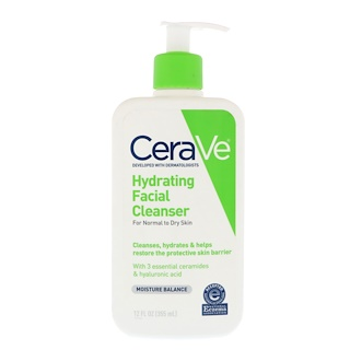 CeraVe, Hydrating Facial Cleanser, For Normal to Dry Skin, 12 fl oz (355 ml)