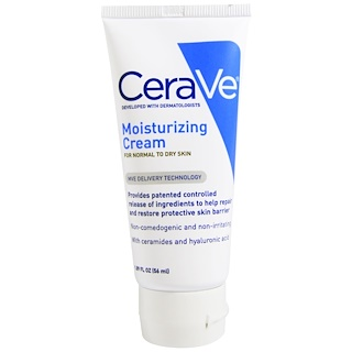 CeraVe, Creme Hidratante, Pele Normal a Seca, frasco de 1,89 oz (56 ml)