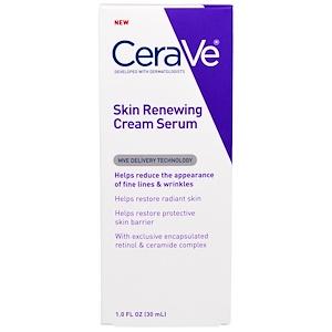 CeraVe, Регенерирующий Кожу Крем — Серум, 1 жидкая унция (30 мг) инструкция, применение, состав, противопоказания