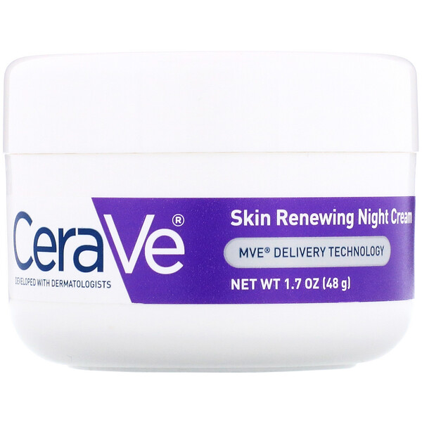 CeraVe, Skin Renewing Night Cream, 1.7 oz (48 g) (Discontinued Item)