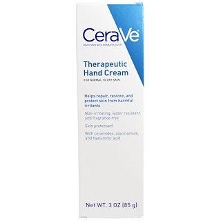 CeraVe, Therapeutic Hand Cream, 3 oz (85 g)