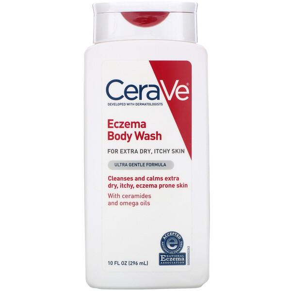 CeraVe, Jabón líquido para eczemas, Fórmula ultrasuave, 296ml (10oz.líq.) (Discontinued Item)