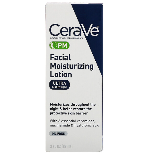 CeraVe, PM Facial Moisturizing Lotion, 3 fl oz (89 ml)