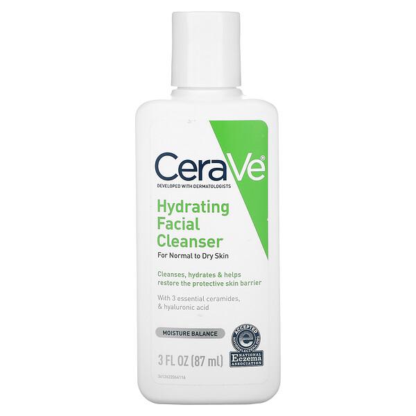 CeraVe, Увлажняющее, очищающее средство для лица, для нормальной и сухой кожи, 87мл (3жидк.унции)