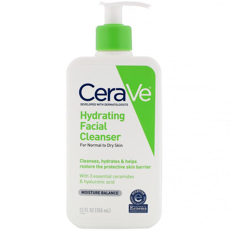 CeraVe, 保濕洗面乳,12 液量盎司(355 毫升)