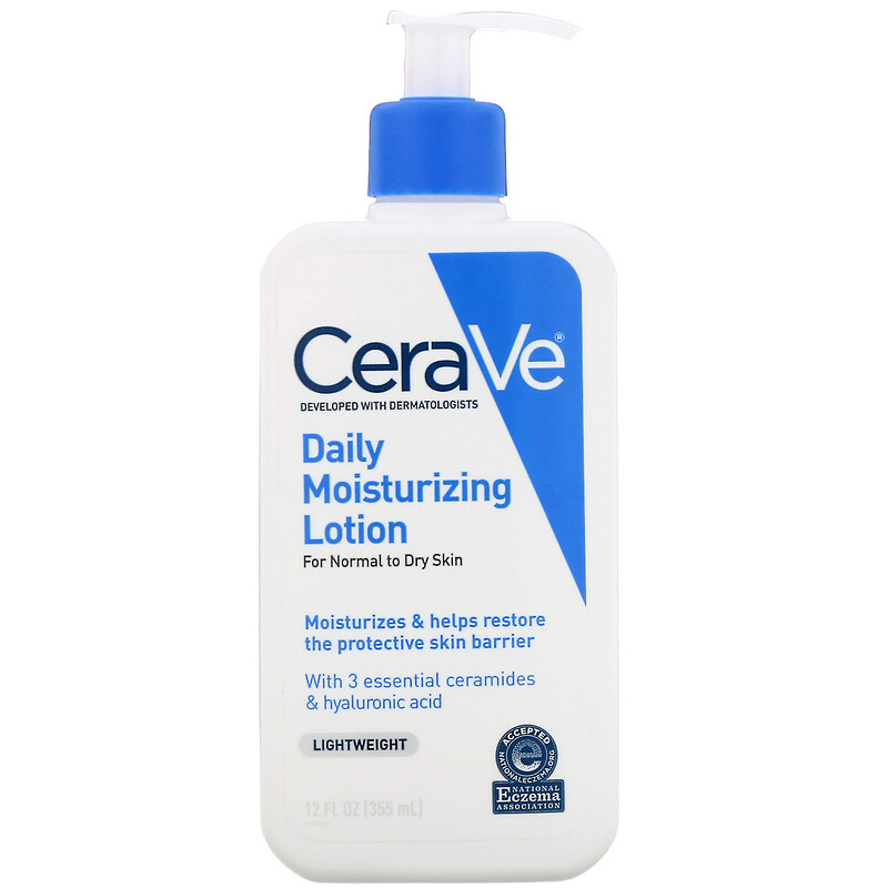 CeraVe, 日用保濕乳液,輕盈,12 液量盎司(355 毫升)