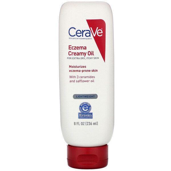 CeraVe, 濕疹霜油,特別乾燥皮膚,瘙癢皮膚,8 液量盎司(236 毫升)