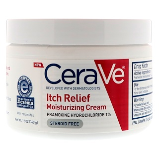 CeraVe, Itch Relief Moisturizing Cream, 12 oz (340 g)