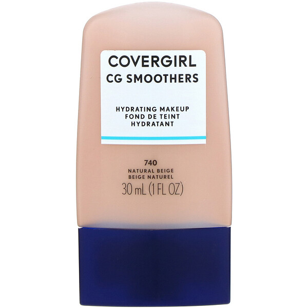 Covergirl, Smoothers, Maquillaje hidratante, 740 Beige natural, 30 ml (1 oz. líq.) (Discontinued Item)