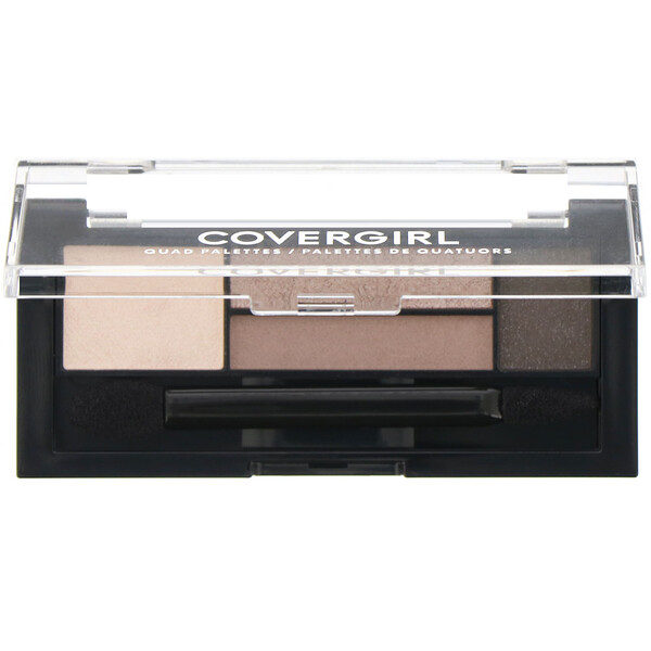 Covergirl, Quad Palettes Eye Shadow, 700 Notice Me Nudes, .06 oz (1.8 g)