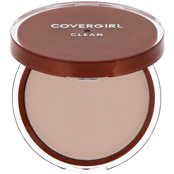 Clean, Pressed Powder Foundation, 120 Creamy Natural, .39 oz (11 g)