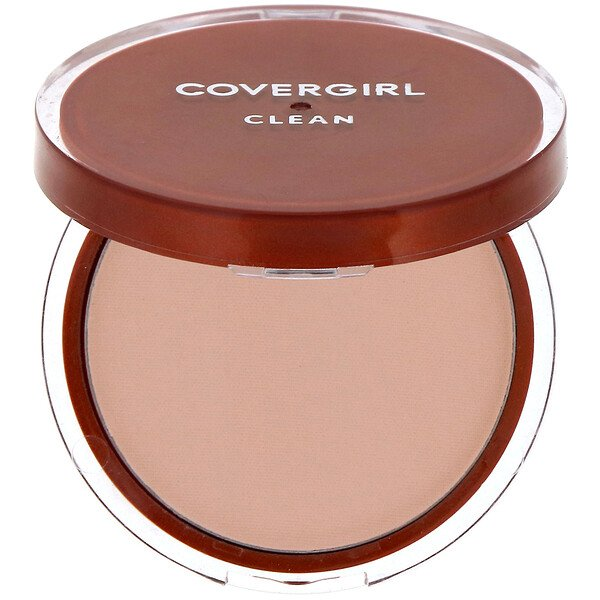 Covergirl, Clean, Pressed Powder Foundation, 120 Creamy Natural, .39 oz (11 g)