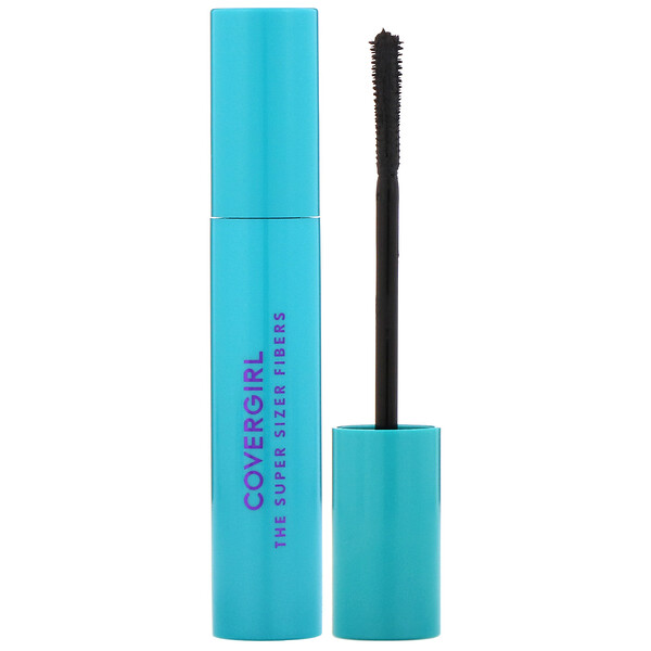 Covergirl, The Super Sizer Fibers, Máscara para pestañas, 800 Muy negro, 12 ml (0,4 oz. líq.) (Discontinued Item)