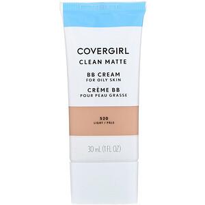 Covergirl, Clean Matte BB Cream, 520 Light, 1 fl oz (30 ml) отзывы