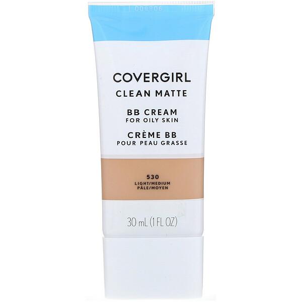 Clean Matte BB Cream, 530 Light/Medium, 1 fl oz (30 ml)