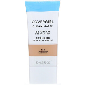 Covergirl, Clean Matte BB Cream, 530 Light/Medium, 1 fl oz (30 ml) отзывы покупателей