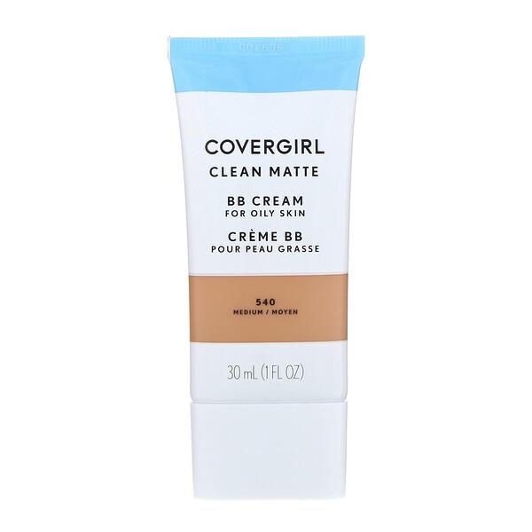 Covergirl, Clean Matte BB Cream, 540 Medium, 1 fl oz (30 ml) (Discontinued Item)