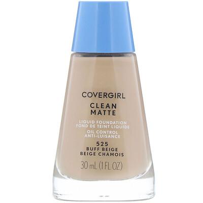 Купить Covergirl Clean Matte, жидкая тональная основа, оттенок 525 «Желтовато-бежевый», 30мл (1жидк.унция)