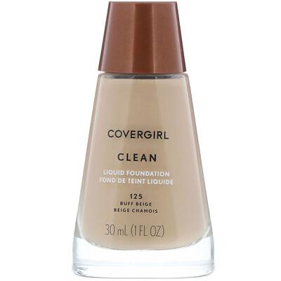 Купить Covergirl Clean, жидкая тональная основа, оттенок 125 «Желтовато-бежевый», 30мл (1 жидк.унция)