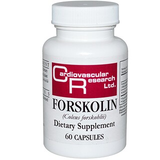 Cardiovascular Research Ltd., Forskolin, 60 Capsules