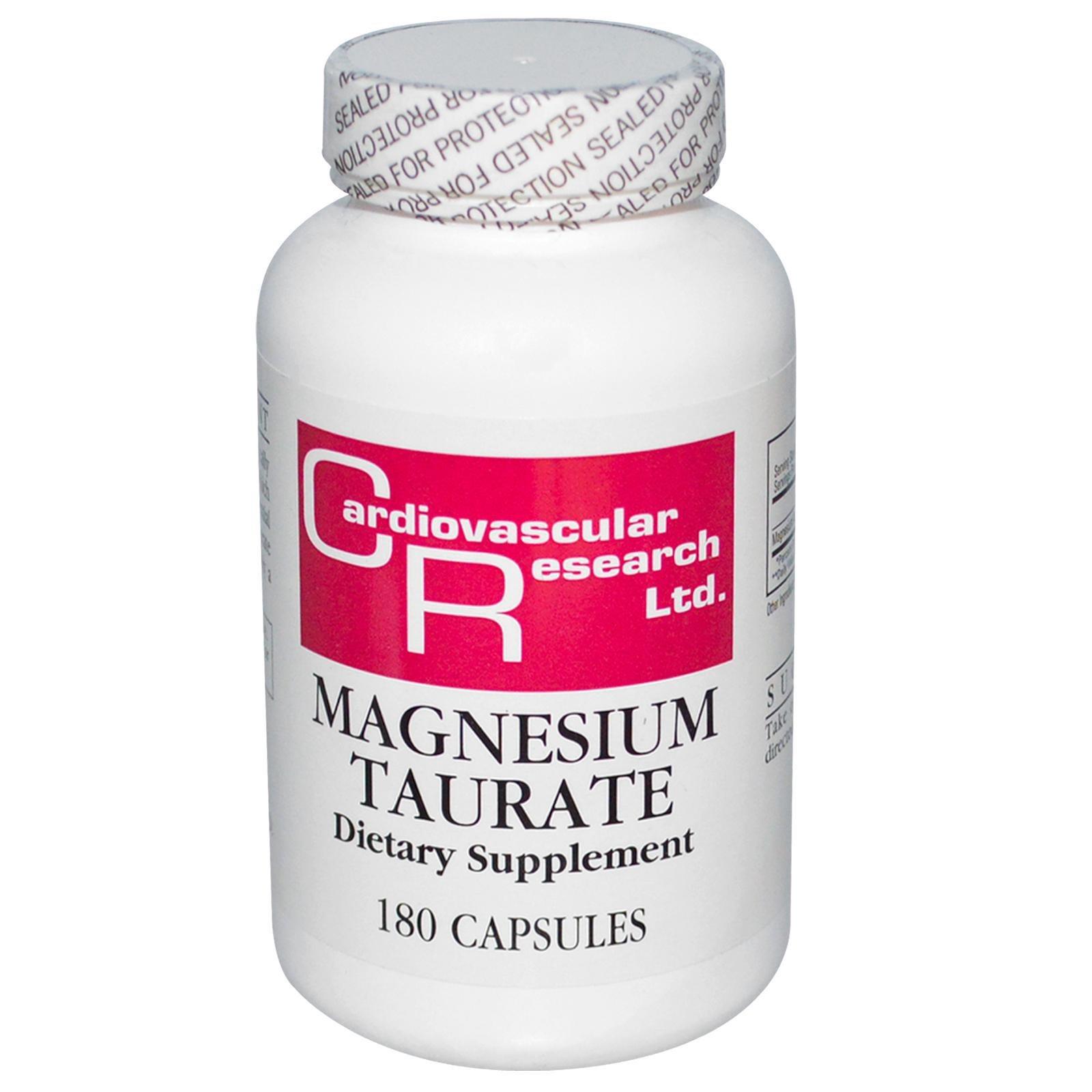 Cardiovascular Research Ltd., Таурат магния, 180 капсул