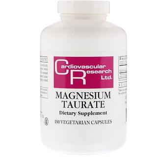 Cardiovascular Research Ltd., Taurate de magnésium, 180 gélules végétariennes