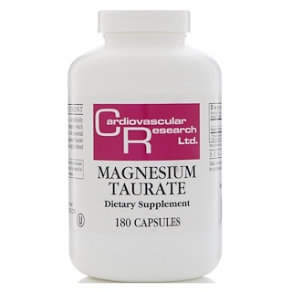 Cardiovascular Research Ltd., Magnesium Taurate, 180 Capsules